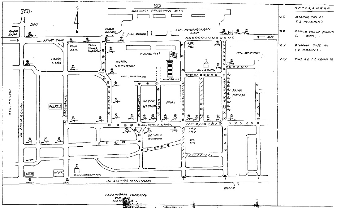 Massacre Location Hand Drawn Map